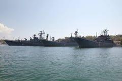 Ships of the Black Sea fleet Royalty Free Stock Photos