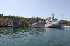 Ships of the Black Sea fleet Stock Photo