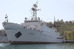 Ships of the Black Sea fleet royalty free stock photo