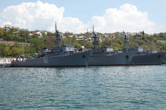 Ships of the Black Sea fleet Royalty Free Stock Photography