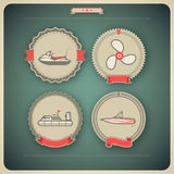 Ships and boats. 4  icons related to ships, boats and other objects/symbols in relation to boat swimming, pictured here from left to right, top to bottom Royalty Free Stock Images