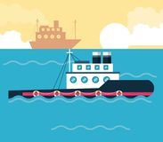 Ships boats at sea. Icon vector illustration graphic design Royalty Free Stock Photography