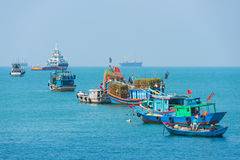 Ships and boats in Vungtau, Vietnam Stock Images