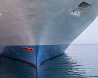 Ships bow. A ships bow with a red swing infront of it royalty free stock photos