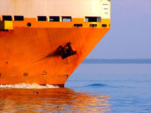 Ships Bow. Ship underway, Bow shot Royalty Free Stock Photography