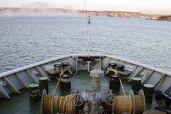 Ships bow fog Royalty Free Stock Image