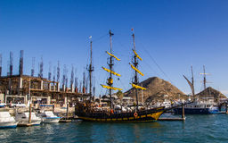 Ships in Cabo  San Lucas Marina Royalty Free Stock Photography