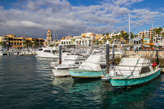 Ships in Cabo  San Lucas Marina Royalty Free Stock Images