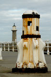 Ships capstan. Old ships capstan on Whitby peer Stock Photography