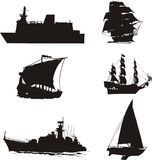 Ships collection Stock Photo