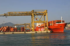 Ships containerized Messina Royalty Free Stock Photo