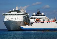 Ships in Cozumel Royalty Free Stock Photography