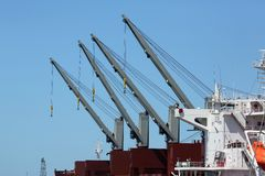 Ships Cranes Stock Image