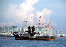 Ships and Cranes in Kaohsiung Royalty Free Stock Photo