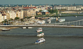 Ships on the Danube Royalty Free Stock Photo