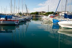 Ships at Desenzano, Garda Lake Royalty Free Stock Photo