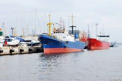 Ships in dock Stock Image