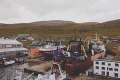 Ships in Faroe Islands Stock Image