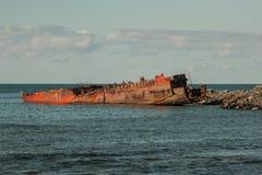 Ships in dock. Old rusty ships in dock stock photo