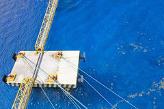 Ships docking lines and jetty Stock Image
