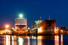 Ships in docks Royalty Free Stock Photo