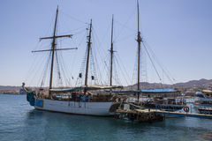 Ships in Eilat and water blinks Stock Images