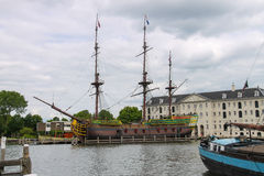 Ships - exhibits the Netherlands Maritime Museum in Amsterdam Stock Photos