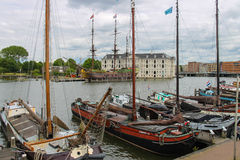 Ships - exhibits the Netherlands Maritime Museum in Amsterdam Royalty Free Stock Photo