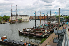 Ships - exhibits the Netherlands Maritime Museum in Amsterdam Stock Image