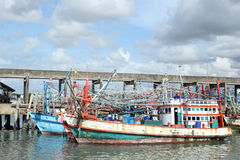 Ships. And fishing boats in the industry royalty free stock images