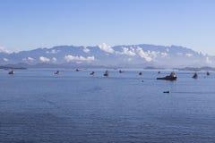 Ships in Guanabara Bay Royalty Free Stock Photo