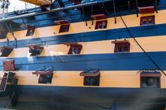 Ships gundeck Stock Images