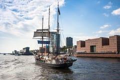 Ships at Hamburg harbor Royalty Free Stock Photos