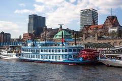 Ships at Hamburg harbor Royalty Free Stock Image