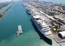 Ships in harbor Stock Photo