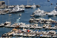 Ships in the harbor of Monaco Royalty Free Stock Photography