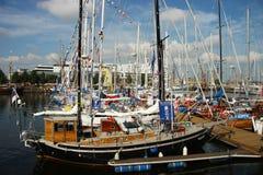 Ships in harbor Stock Image