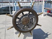 Ships helm wheel Royalty Free Stock Photo