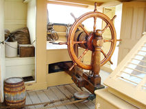 Ships helm wheel royalty free stock photos
