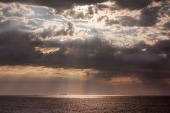 Ships on the horizont of sea Stock Photo