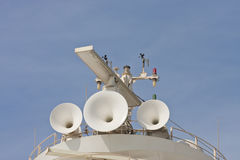 Ships Horns and Satellite Stock Image