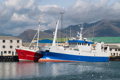Ships in Iceland Royalty Free Stock Image