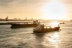 Free Ships In Nieuwe Waterweg Canal Stock Image - 31747631