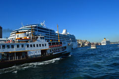 Ships in Istanbul Stock Image
