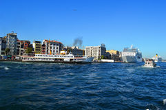 Ships in Istanbul Royalty Free Stock Photo
