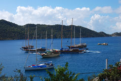 Ships Kalekoy Simena, Lycia Royalty Free Stock Photos