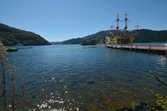 Ships in the Lake Ashi Royalty Free Stock Photography