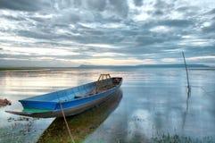 Ships on the lake bank (HDR) Stock Photography