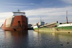Ships on Lake Erie. Ships harbored on Lake Erie Stock Images