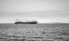 Ships leave port Royalty Free Stock Images